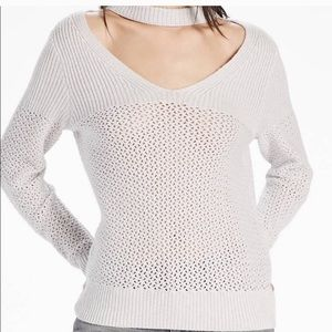 Lucky brand cut out collar sweater